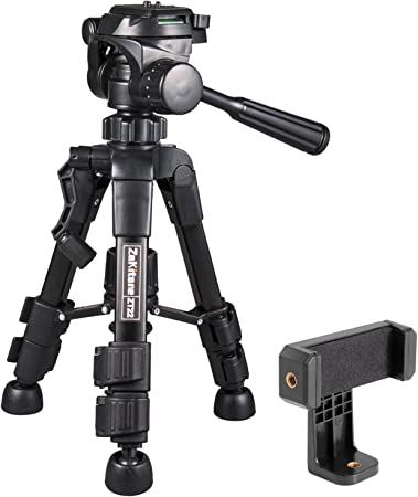 ZaKitane - Trípode para cámara de sobremesa pequeño y soporte para ...