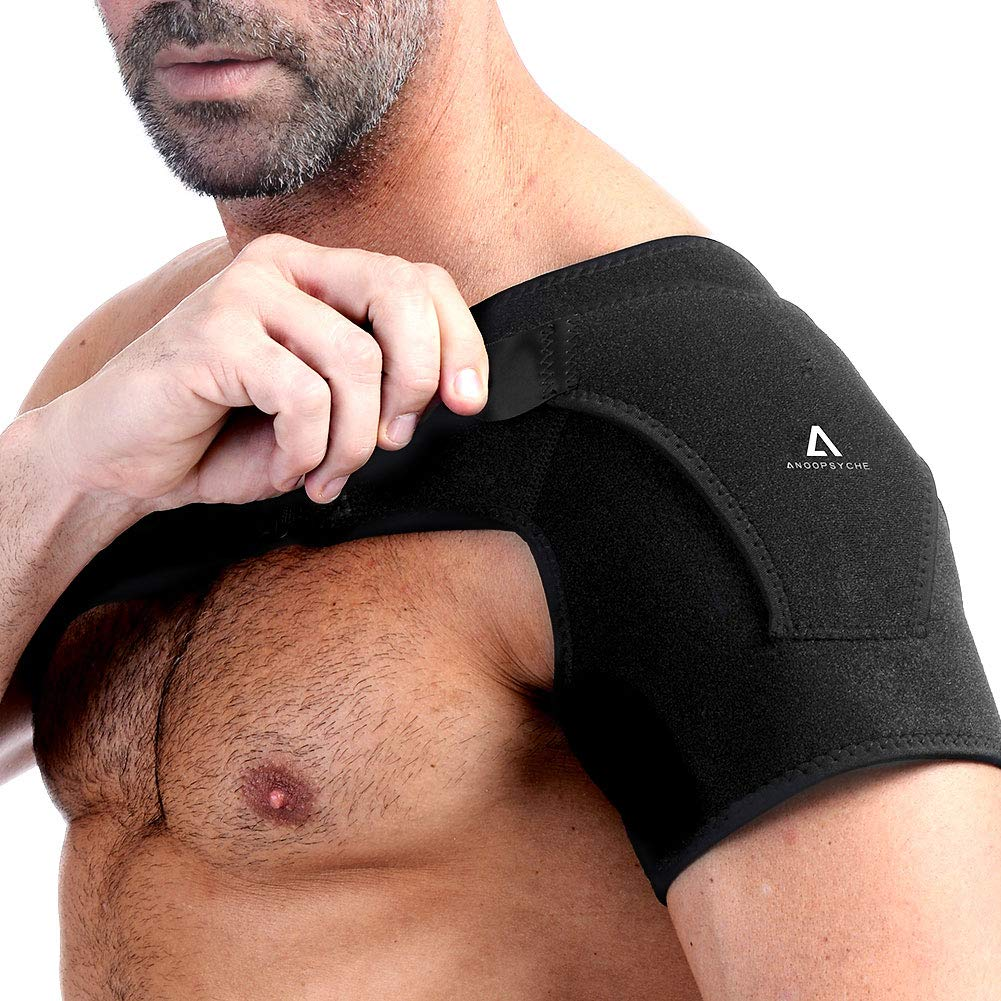 Anoopsyche Shoulder Brace Support, Dislocated Prevention and Recovery, Pain Relief Sling for Women and Men, Adjustable Fits Both Left or Right Shoulder by Anoopsyche