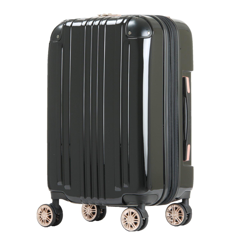 【レジェンドウォーカー】LEGEND WALKER スーツケース アルミフレーム 鏡面ボディ TSAロック 軽量 機内持込~大型 5122 B0798HT7JG Mサイズ(フレーム)|ブラック ブラック Mサイズ(フレーム)