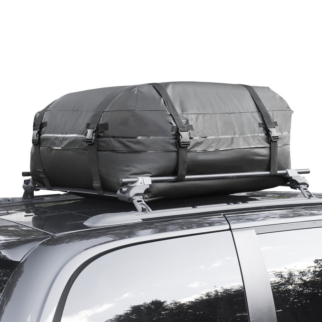 Amazon.com: Cargo Roof Bag   100% Waterproof Car Top Carrier U2013 Easy To  Install Soft Rooftop Luggage Carriers With Wide Straps U2013 Ample Storage  Space U2013 Folds ...