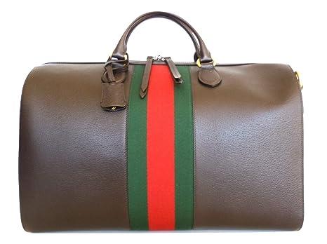 GUCCI ITALIA - Bolsa de Viaje Marrón Marrone Verde Rosso