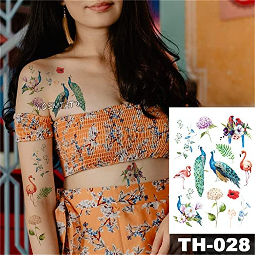 8 Unids-Etiqueta Engomada del Tatuaje Temporal A Prueba de Agua ...