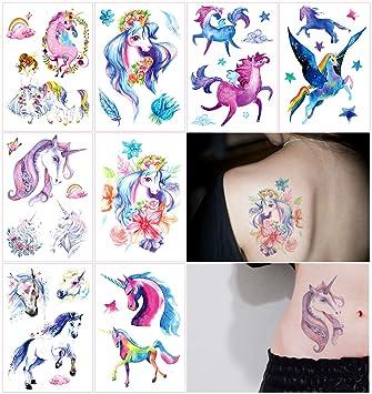 Oottati 8 Hojas Tatuajes Temporales Brazo Pierna Pintura Mano ...