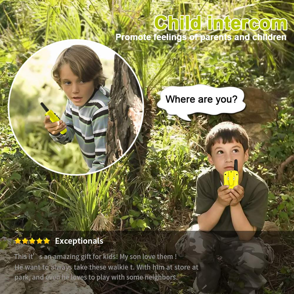 Dreamingbox Outside Toys for 3-9 Year Old Kids, Long Range Walkie Talkies for Kids Birthday Presents Gifts for 3-12 Year Old Girls Boys Hunting Toys for 3-12 Year Old Boys Yellow TGUSSDDJ03 by Dreamingbox (Image #2)