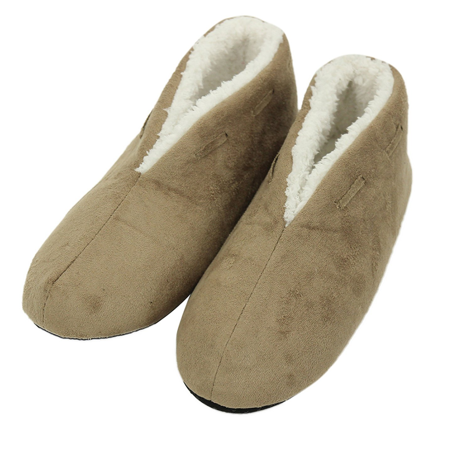 Forfoot Woman's Girl's Winter Warm Cozy Fashion Indoor Bedroom House Shoes Midcalf Boot Slippers Beige US Womens Slipper Size 9-10