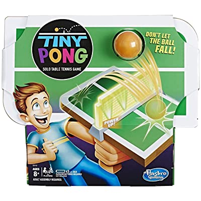 Tiny Pong Solo Table Tennis Kids Electronic Handheld Game Ages 8 and Up: Toys & Games