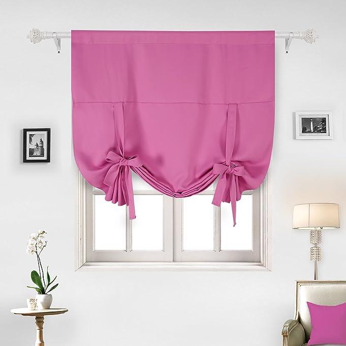 Amazon.com: Deconovo Solid Color Rod Pocket Blackout Curtains Panel ...