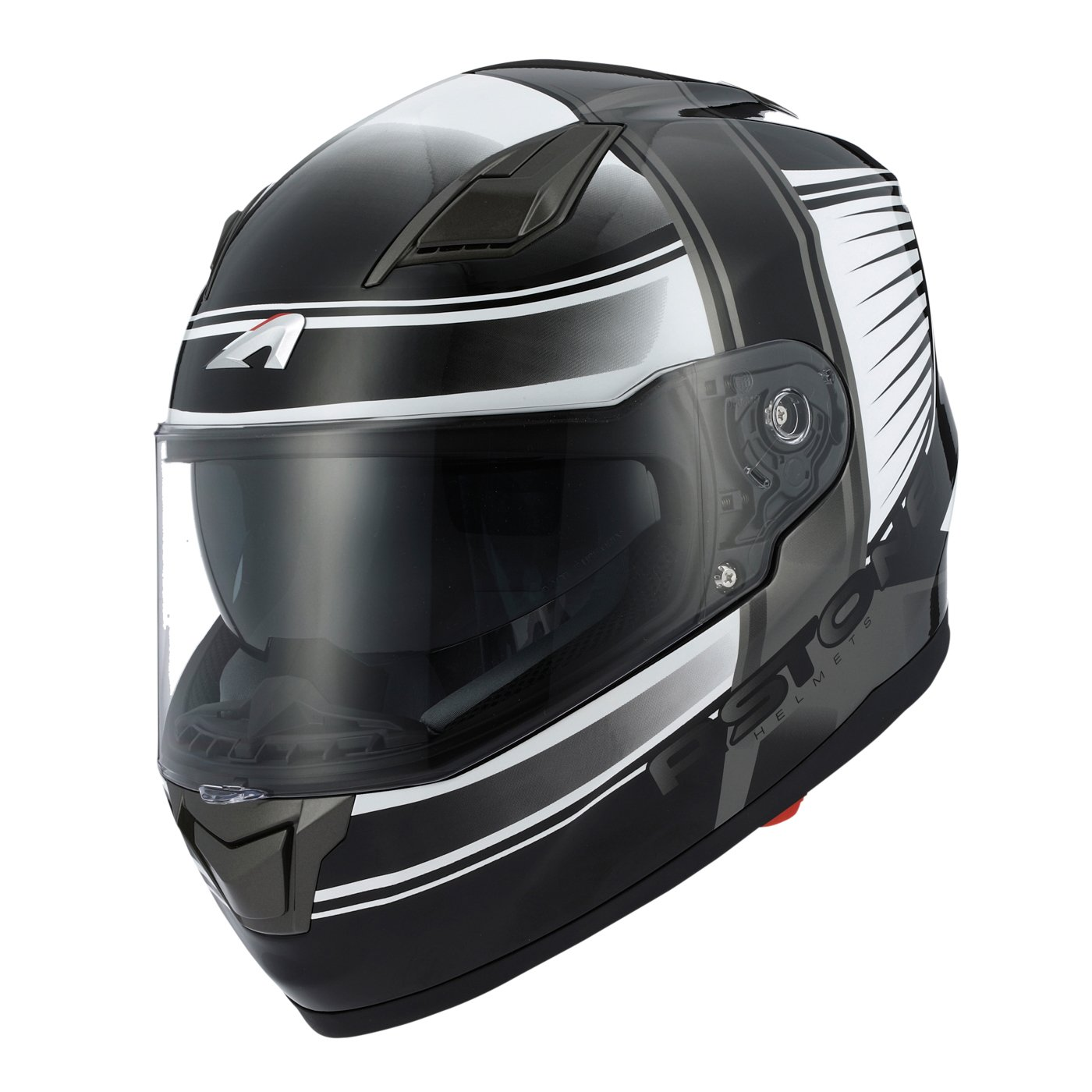 Astone Helmets Casque Moto Inté gral GT900, Noir/Rouge, Taille S Rider Valley GT900-COR-RDS