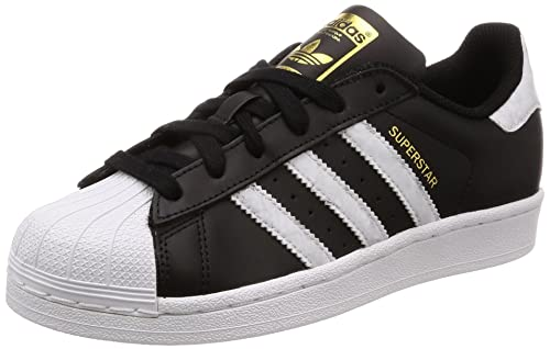 adidas Mens Superstar, CORE Black/Footwear White/Gold MT, ...