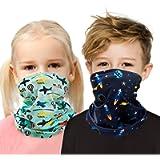 Kids Neck Gaiter Face Mask for Boys Girls Cover Scarf Bandana Balaclava Adjustable Reusable Washable