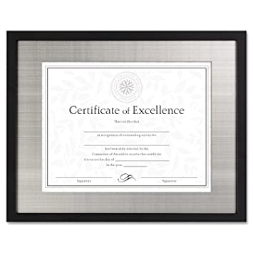 dax n15788st contemporary wood documentcertificate frame silver metal mat 11 x 14