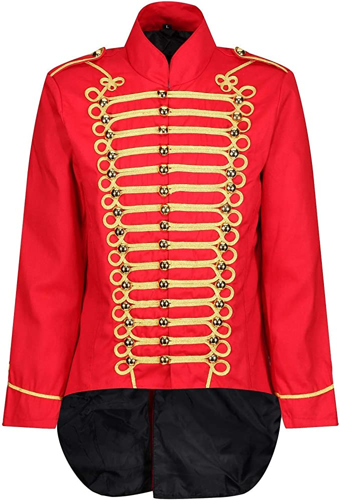Ro Rox Men's Parade Jacket Marching Band Drummer Gothic Tailcoat