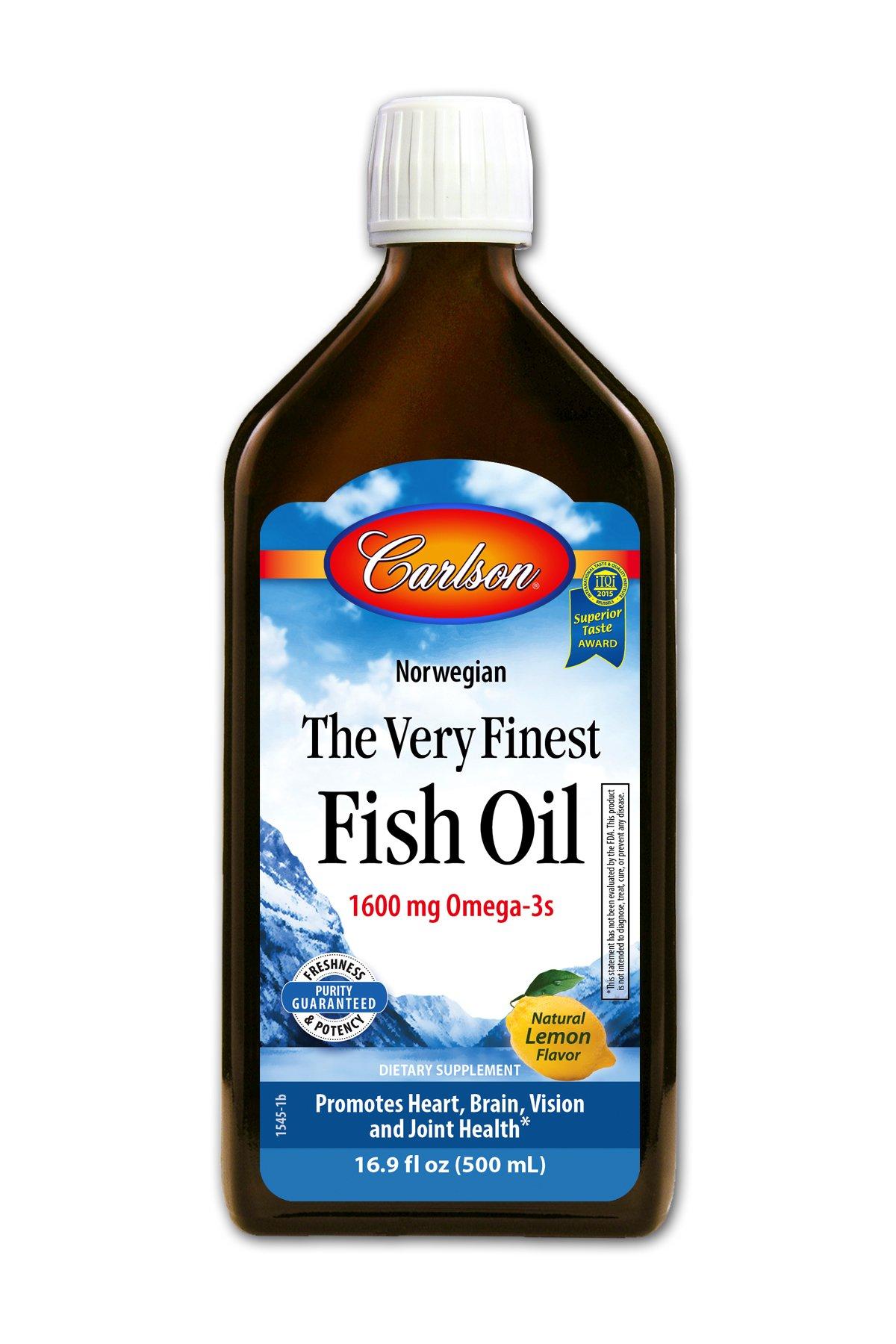Carlson the very finest fish oil liquid omega for Carlson fish oil amazon