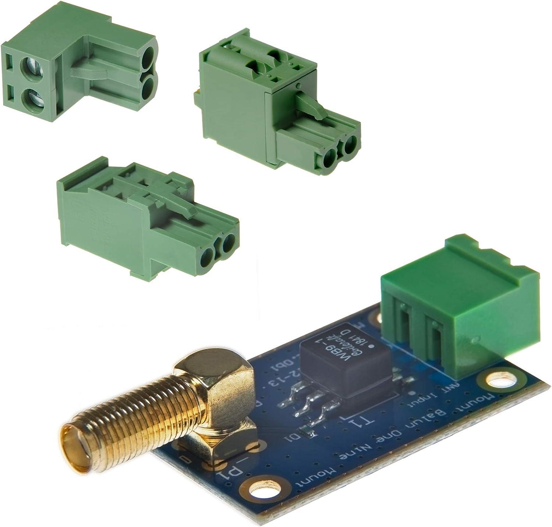 Balun One Nine v2 Barebones - Antena HF Pequeña de Bajo Costo 9:1 (1:9) Balun y Unun con Protección de Entrada de Antena para Onda Corta. Ideal para ...