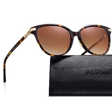 ad97d4ce3 AVAWAY Classic Oversized Polarised Sunglasses for Women Retro Ladies Eyewear  100% UV400 Acetate Frame,
