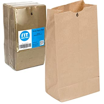 Amazon.com: Kraft bolsas de papel 11 x 6 x 3,5