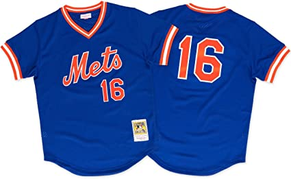 size 40 6c41a 9664c Mitchell & Ness Dwight Gooden New York Mets #16 Men's 1986 Authentic Mesh  Batting Practice Jersey