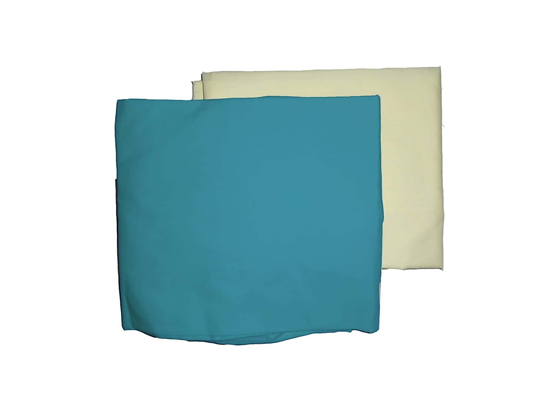Mint//Yellow 501sh2-mint//yellow Baby Doll Bedding Solid Two-Tone Crib Sheet Set
