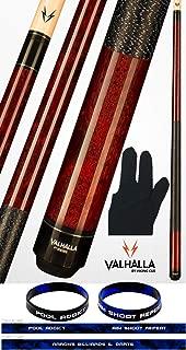product image for Valhalla by Viking 2 Piece Pool Cue Stick Mahogany VA120 Irish Linen Wrap 18-21 oz. Plus Billiard Glove & Bracelet