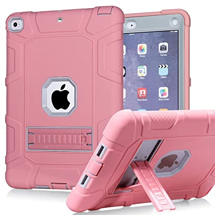 wholesale dealer d607e 6c59e PPSHA iPad 6th Generation Cases, iPad 2018 Case, iPad 9.7 Inch Case,Hybrid  Shockproof Rugged Drop Protection Cover Built with Kickstand for New iPad  ...