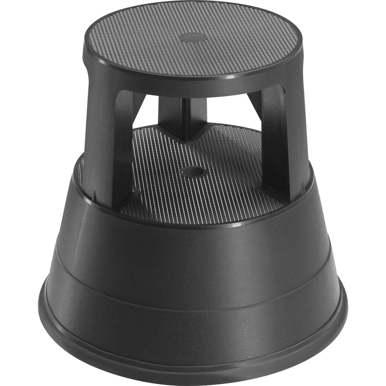 Hailo Rolltritt 220 (aus hochwertigem Kunststoff, 2 Stufen mit Anti-Rutsch-Riffelung, leichtes Bewegen in alle Richtungen, belastbar bis 150 kg) 4440-001