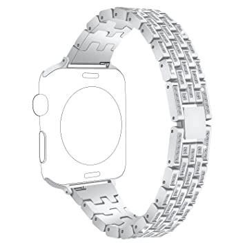 Bandas Para Apple reloj, 38/42 mm metal Bling Bling con ...