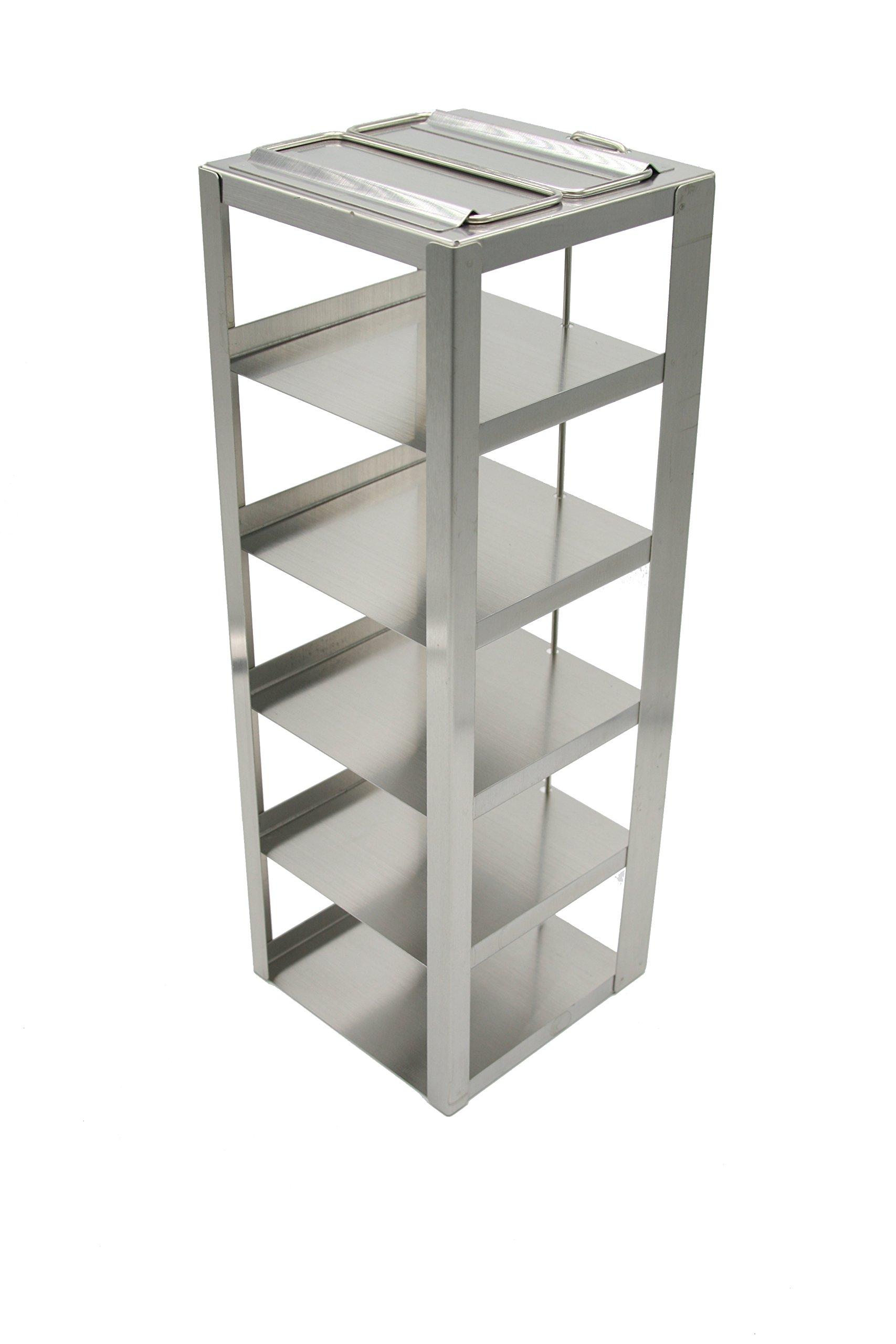 Heathrow Scientific HD2862DA Steel Standard Chest Freezer Vertical Rack with 5 Shelves, For 3'' Box Height