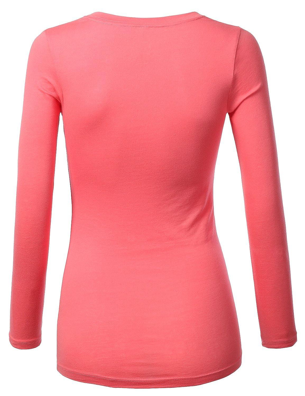 22d7c378369ac J.TOMSON Women s Plain Basic Long Sleeve Crew Neck T-Shirt at Amazon Women s  Clothing store