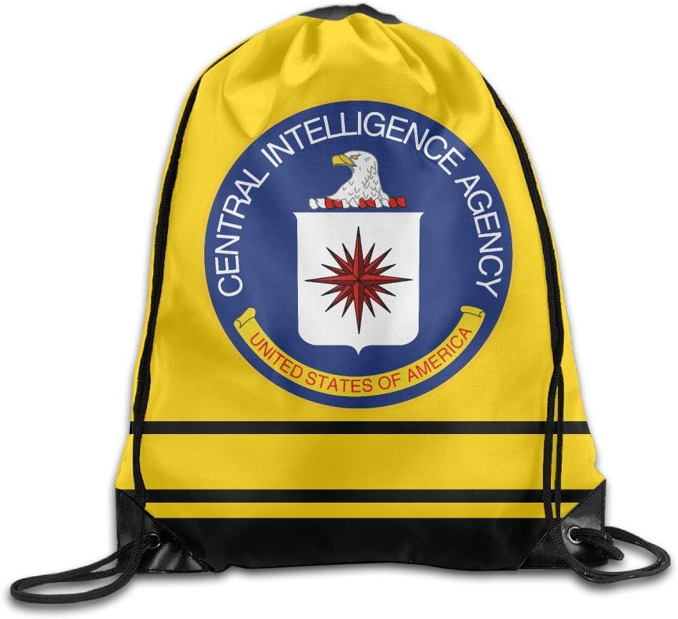 YFLLAY CIA Logo Drawstring Backpack Sack Bag//Travel Bag