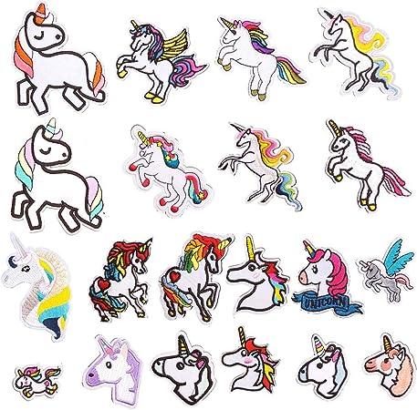 Applikation Aufnäher Bügelbild Patch Flicken Pferd Pony Einhorn Unicorn Stern