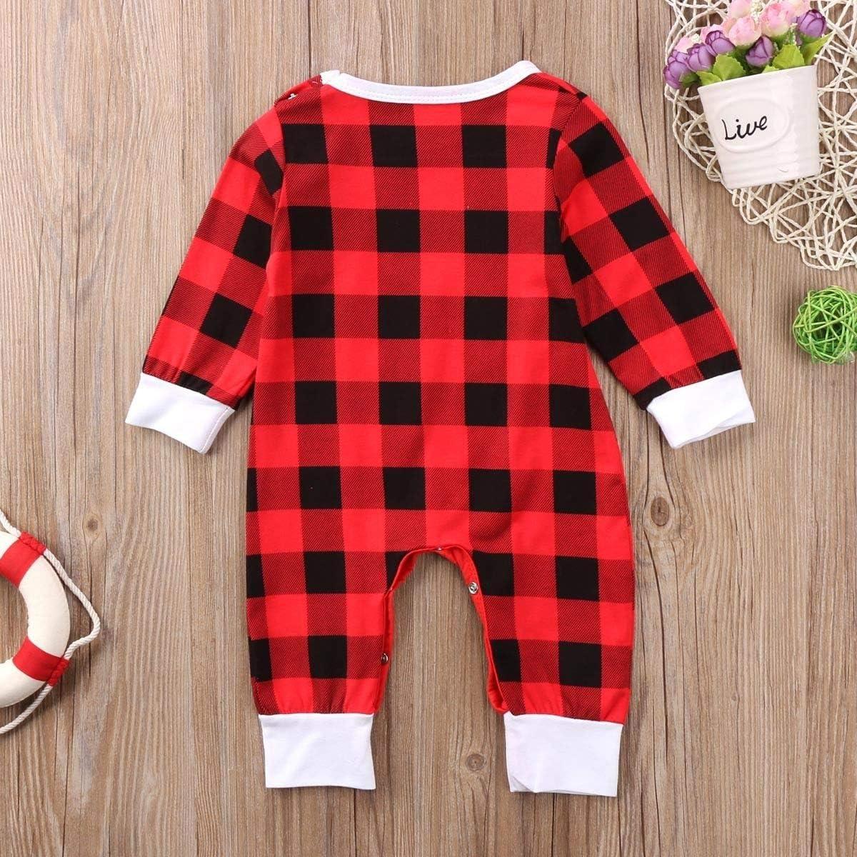 pantalones mameluco a cuadros rojos gorro Conjunto de ropa de beb/é reci/én nacido para ni/ño y ni/ña diadema