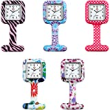 Lancardo Unisex Nurses Lapel Silicone Watch (Pack of 5)