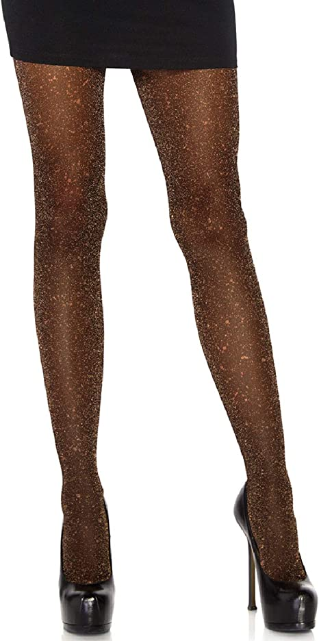 Set Of Two Party Printed Opaque /& Metallic Lurex Tights 2-3 Years
