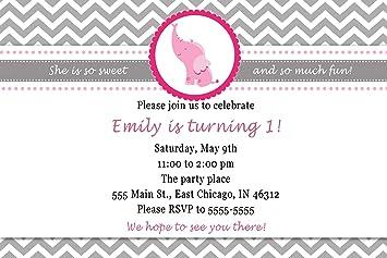 30 invitaciones personalizable elefante cumpleaños Baby ...