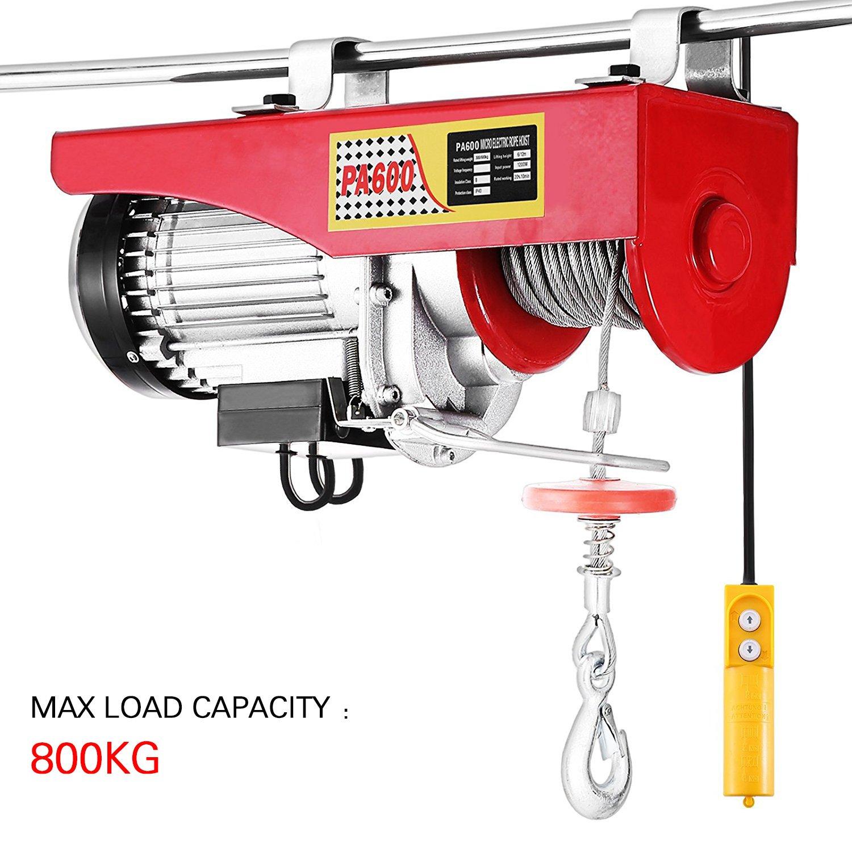 VENDEUR PRO Seilhebezug 800kg 230V 1450W Elektrische Seilwinde VMotorwinde Seilhebezug