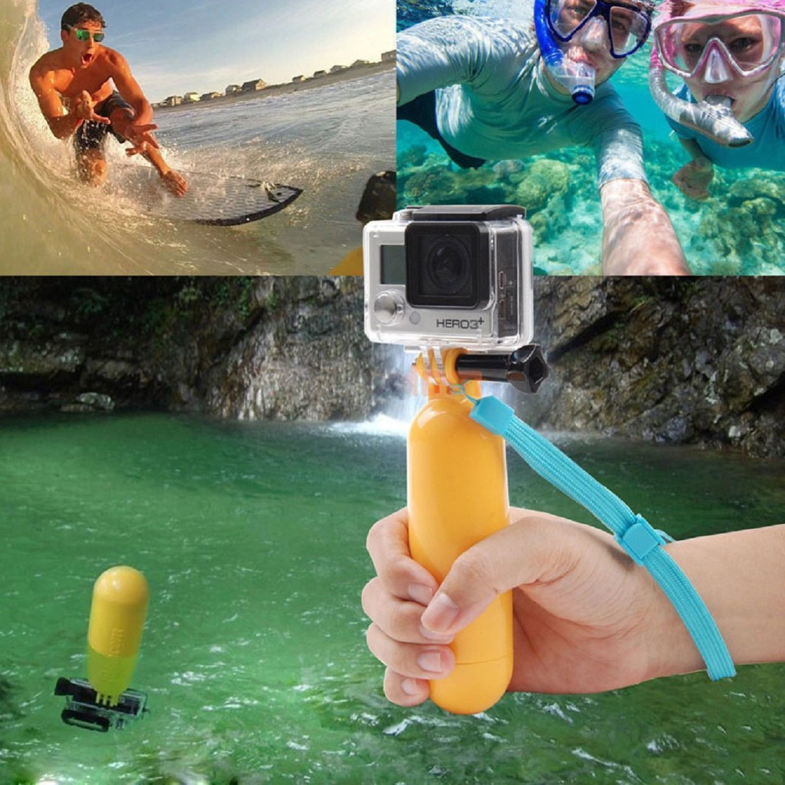 4 TM Willtoo Fashion Floating Hand Grip Accessory Float Case Cover for Gopro Hero 1 2 3 3