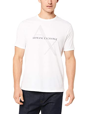9323095707dc A|X Armani Exchange Men's Tonal and Contrast Logo Core Crew Neck
