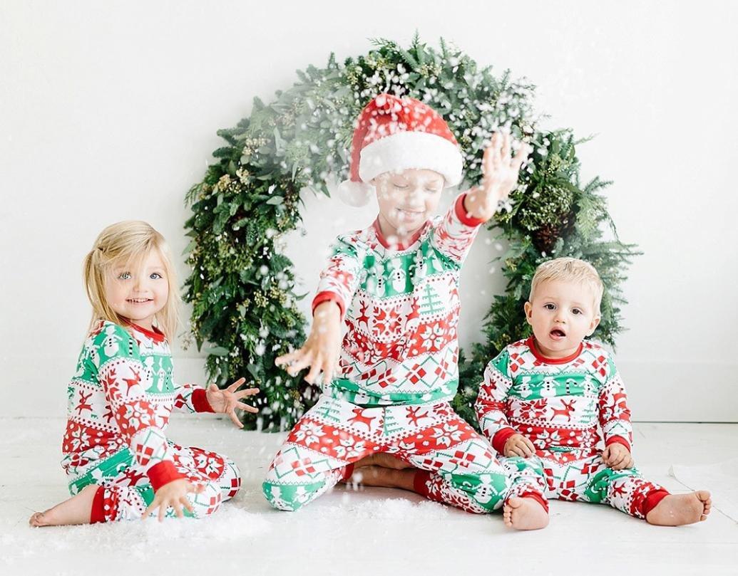 Bebé de Navidad pijama Set, toponly Navidad para niños bebé Unisex ciervos impresión T Shirt mezcla de algodón Tops pantalones Outfit Ropa Set: Amazon.es: ...