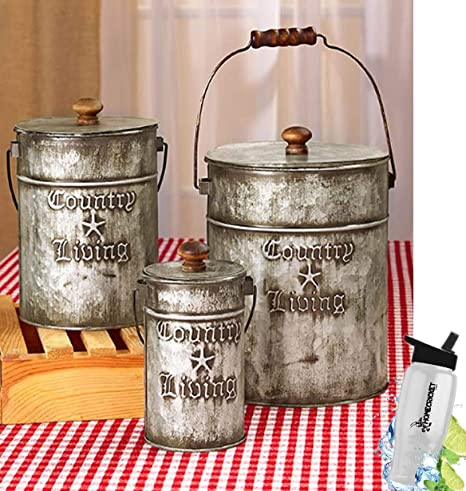 Gift Included- Set of 3 Rustic Country Living Canisters Home Decor on antique blue kitchen ideas, antique rustic doors, antique interior, antique rustic cabinets, antique rustic lighting, antique weddings ideas, antique fireplace ideas, antique wallpaper ideas, antique kitchen countertops, antique red kitchen ideas, antique kitchen design, antique garden ideas, antique kitchen decor ideas, antique room ideas, antique kitchen remodeling ideas, antique rustic decorating, antique design ideas, antique white kitchen ideas, camo kitchen ideas, antique jewelry ideas,