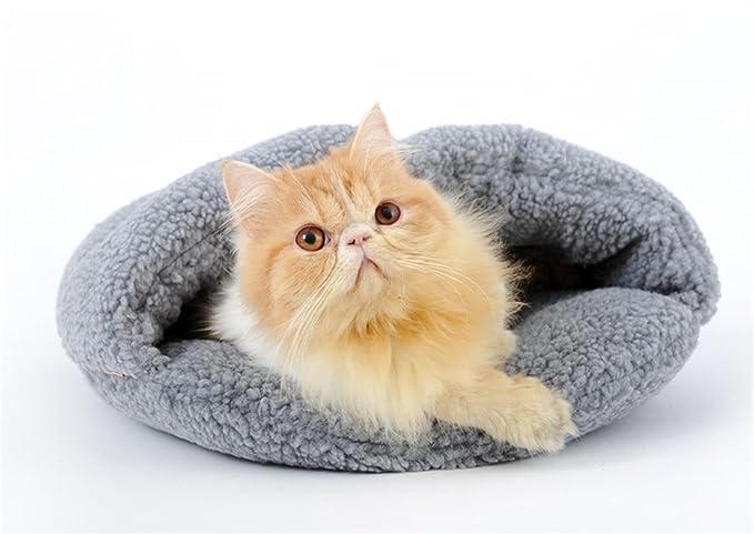 STAZSX Gato camada Gato Saco de Dormir Cerrado Gato Mascota casa Teddy Pequeño Perro Cachorro Perro camada Cat Cat Cat Suministros Temporadas, ...