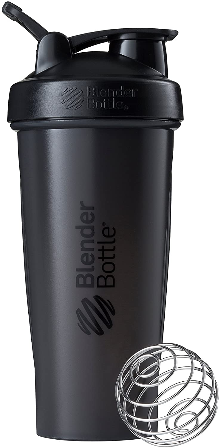 BlenderBottle Shaker Bottle, 28-Ounce, Black