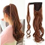"""17""""-24"""" Queue de Cheval Postiche Extension de Cheveux Ondulé - Wrap Around Ponytail Clip in Hair Extensions"""