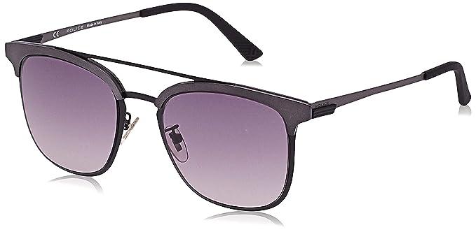 Police Crossover 1 Gafas de sol, Negro (Semi-matt Black), 54 ...