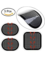 Flyword Electrodes Pads, Replacement Body Gel Pads Adhesive For Slendertone Series Abdominal Belts.1 Sets (3 Gel Pads)
