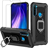 Avesfer for Xiaomi Redmi Note 8 Case with Screen Protector Tempered Glass Ring Holder 360 Degree Rotation Kickstand…