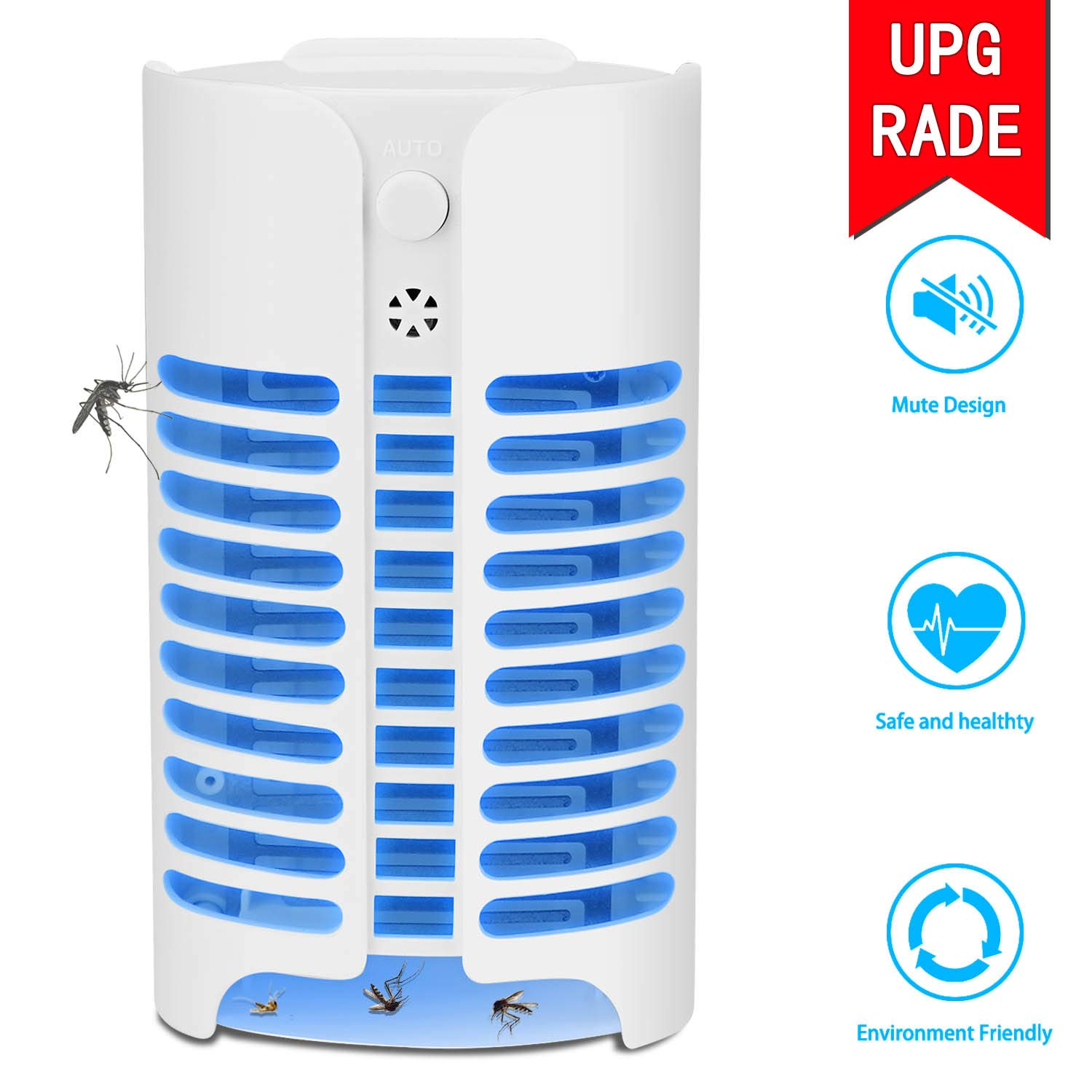 MAEN Electric Indoor Bug Zapper, Mosquito Killer, Insect and Fly Zapper Catcher Killer Trap with UV Night Sensor Light for Home, Office and Patio Indoor Use by JAEN