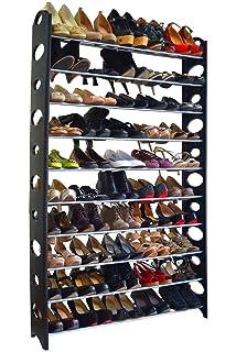 FCH 10 Tier 50 Pair Shoes Storage Organizer Rack For Space Saving Shoes  Closet Organizer