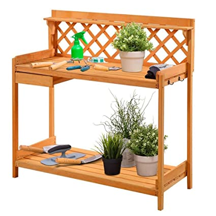 Prime Amazon Com Bs Potting Bench Wood Outdoor Garden Backyard Gmtry Best Dining Table And Chair Ideas Images Gmtryco