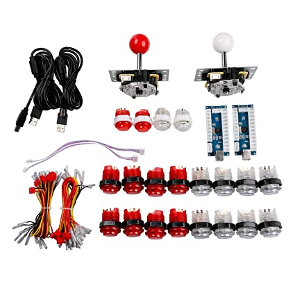 Entertainment Symbol Of The Brand Arcade Diy Kit Zero Delay Usb Encoder 8 Way Joystick 5v Led Illuminated Push Buttons For Mame Jamma Raspberry Pi Arcade Project Attractive Appearance