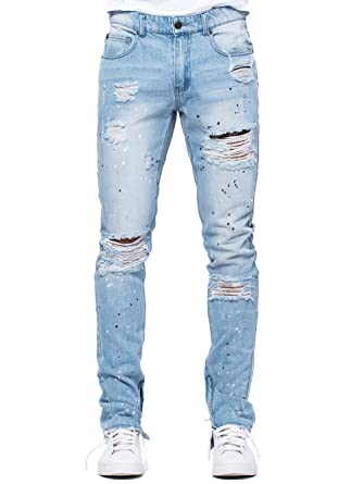 8865d0113 Young and Reckless - Lancaster Tapered Jeans - Light Blue - 34 - Mens -  Bottoms